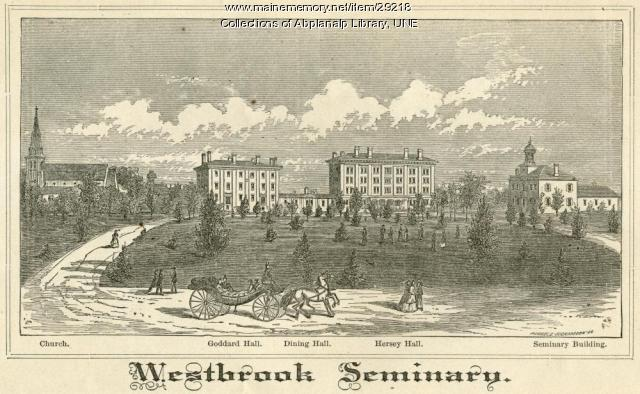 Westbrook Seminary, Campus Engraving, 1870
