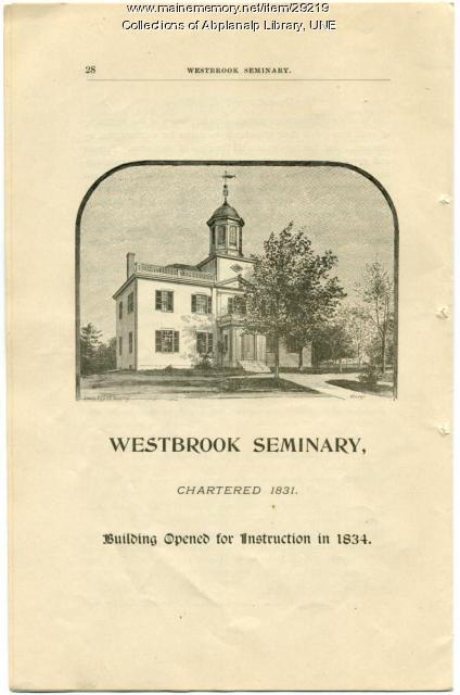 The Seminary Building, Westbrook Seminary, ca. 1892