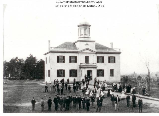 The Seminary Building, Westbrook Seminary, 1868