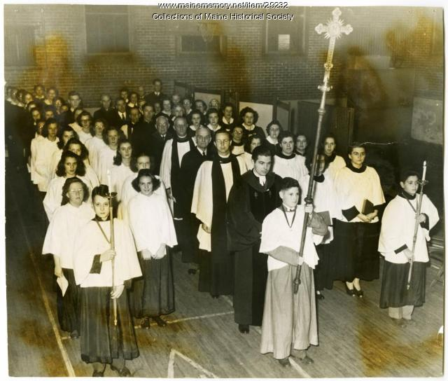 Ecumenical service, Lewiston, 1944