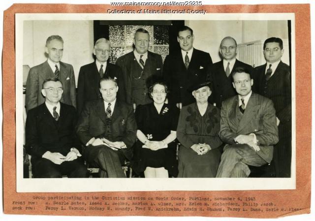Christian Mission on World Order, Portland, 1943