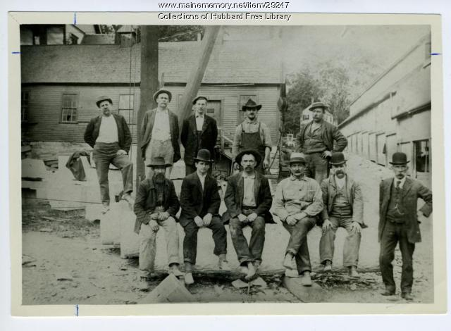 Hallowell Granite Works carvers, ca. 1895
