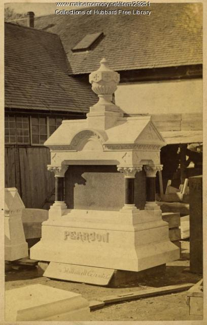 Pearson Monument, Hallowell Granite Works, ca.1880