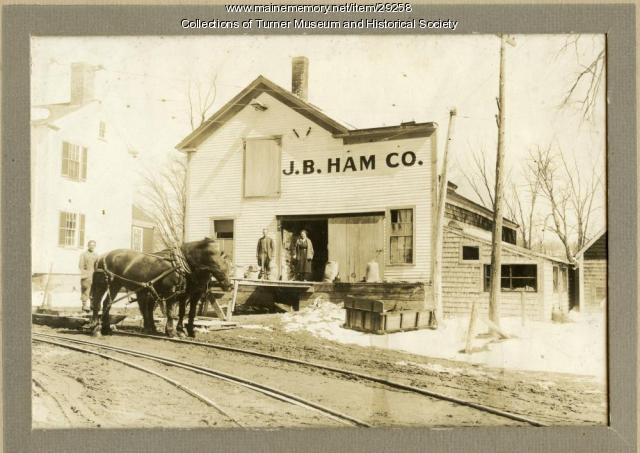 Ham Grain Store, Turner Village, ca. 1910