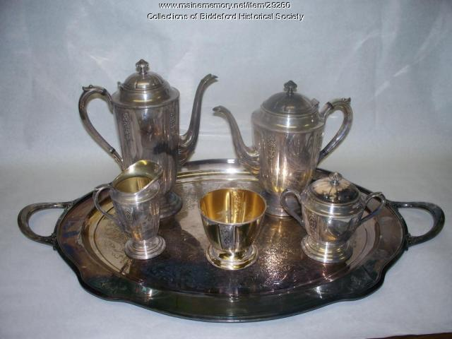 Thursday Club tea set, Biddeford, ca. 1900