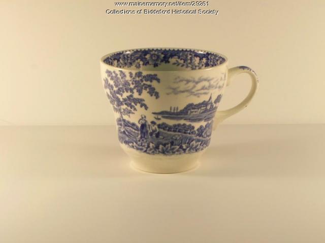 Thursday Club tea cup, Biddeford, ca. 1900