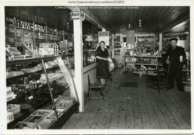 House's Store, Turner, 1936
