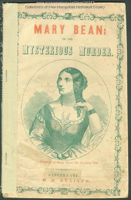 Cover, 'Mary Bean or the Mysterious Murder,' 1851