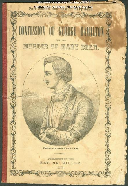 Cover, 'Confession of George Hamilton,' 1852