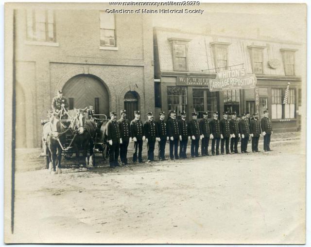 Bangor firefighters, ca. 1890