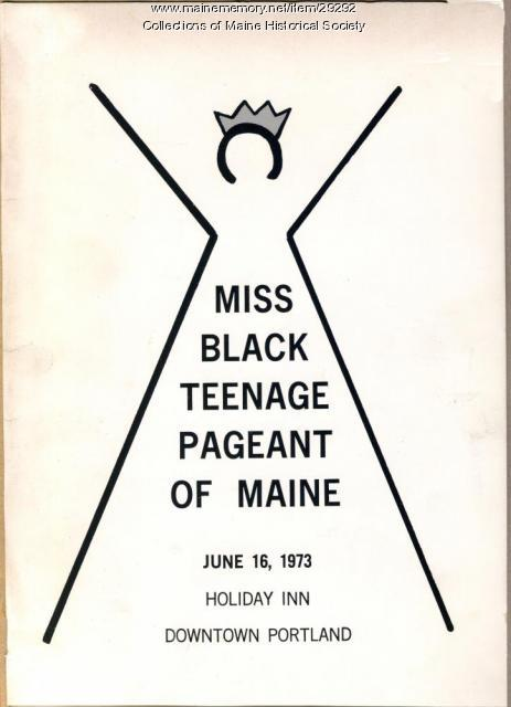 Program, Miss Black Teenage Pageant, 1973