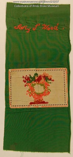 Sally Wood cross-stitch bookmark, Kennebunk