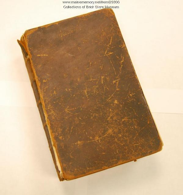 Sally Wood Bible, Kennebunk, 1846