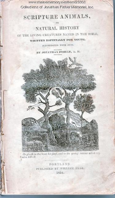 Title page of Jonathan Fisher's 'Scripture Animals,' 1834