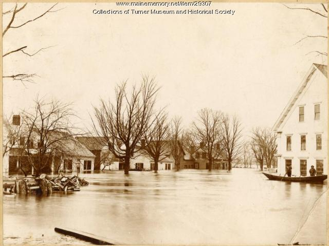 Flooded streets, Turner, 1896