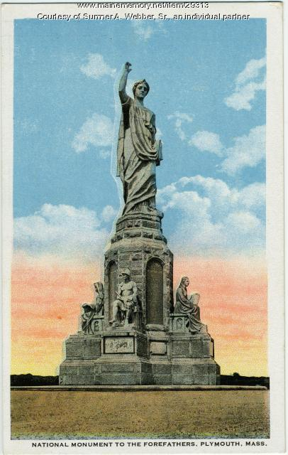 Forefather's Monument, Plymouth, Massachusetts, ca. 1889