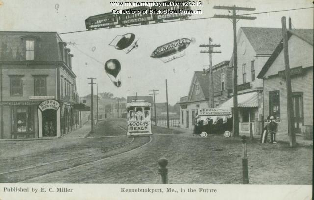 Postcard of Kennebunk future, ca. 1909