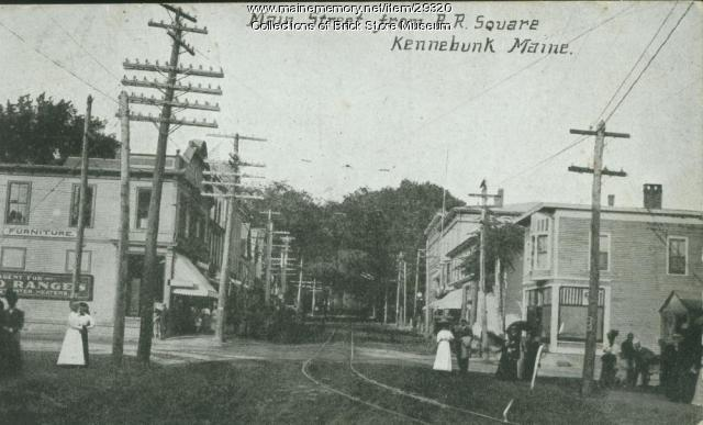 Main Street from R. R. Square, Kennebunk, ca. 1905
