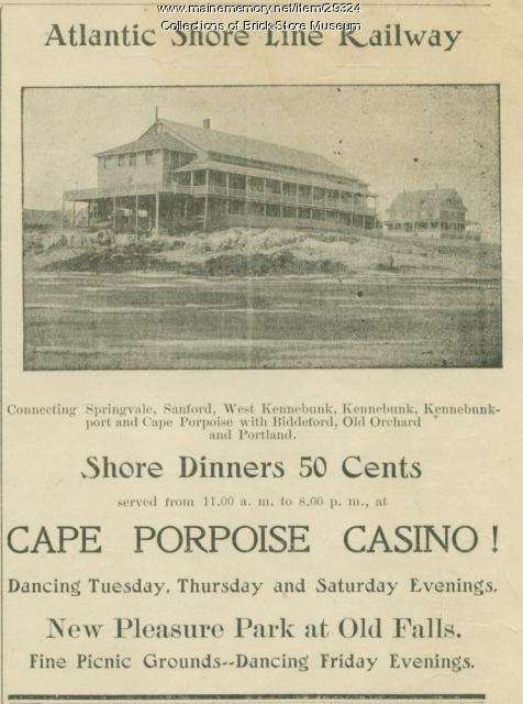 """Wave"" advertisement for the Kennebunks, 1905"