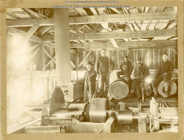 Staples Sawmill, Turner, ca. 1905