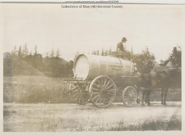 Sprinkler wagon, Blue Hill, ca. 1910