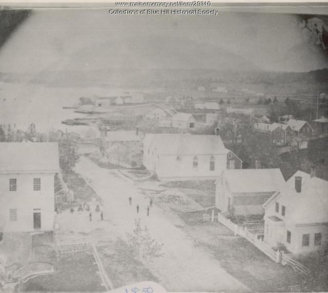 Down Pleasant Street to Waterfront, Blue Hill, ca. 1850
