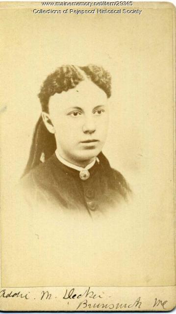Addie M. Decker, Brunswick, ca. 1867