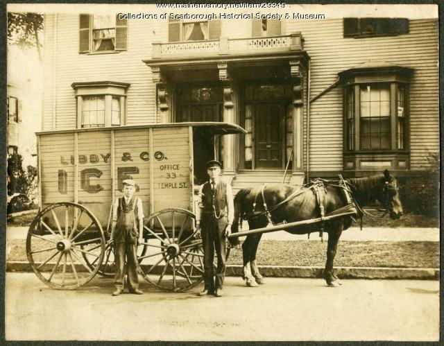 Libby and Co. Ice Wagon, Scarborough, ca. 1880