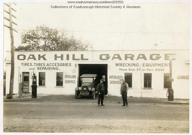 Oak Hill Garage, Scarborough, 1922