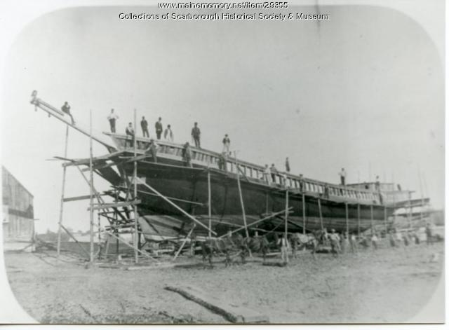'Delia Chapin' construction, Dunstan Landing, Scarborough, 1847