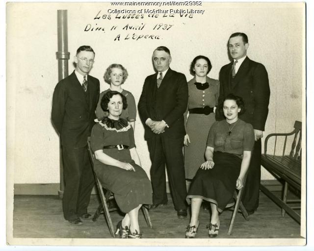 "Cast of ""Les Luttes de la Vie,"" Biddeford, 1937"