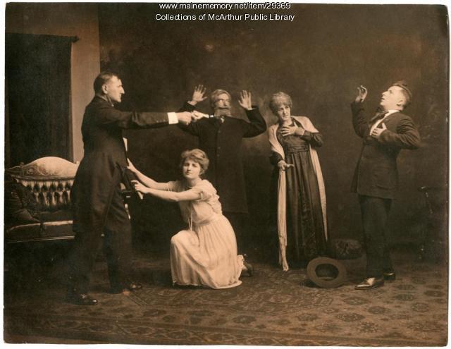 "Scene from play ""L'admiral de la flotte francaise,"" Biddeford, ca. 1925"