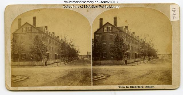 Pepperell Mills boarding houses, Biddeford, ca. 1875