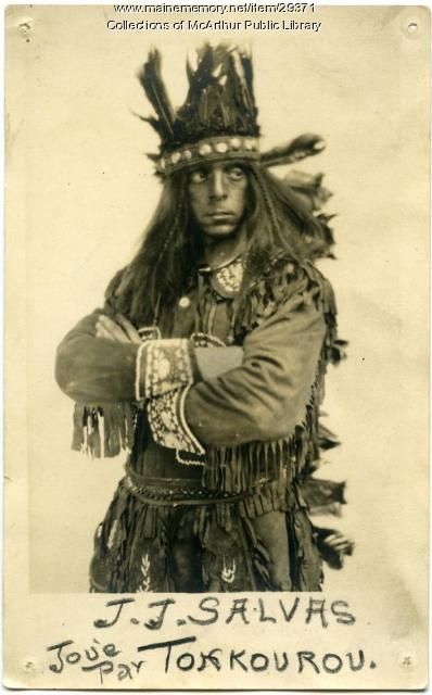 "J. J. Salvas as ""Tonkourou,"" Biddeford, ca. 1925"