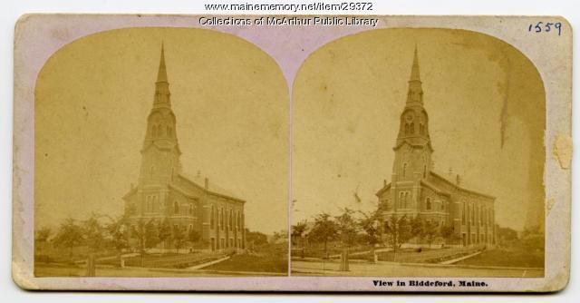 Pavilion Congregational Church, Biddeford, ca. 1875