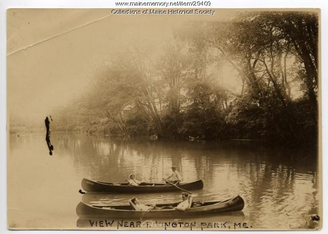 Canoeing at Riverton Park, Portland, ca. 1900