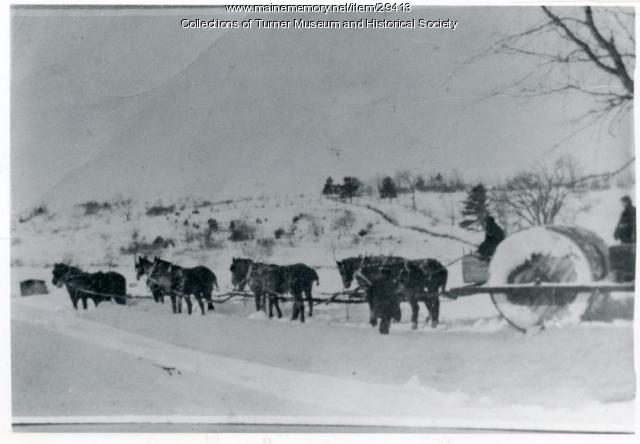 Snow Roller, Howe's Corner, Turner, ca. 1900