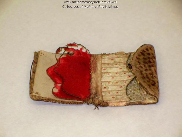 Lady Pepperell's needle case, 1812