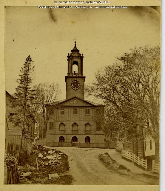 Old South Congregational Church, Hallowell, ca. 1875