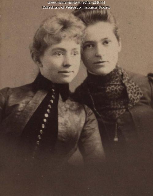 Alice Furbish and Gertrude Simpson, Brunswick, ca. 1889