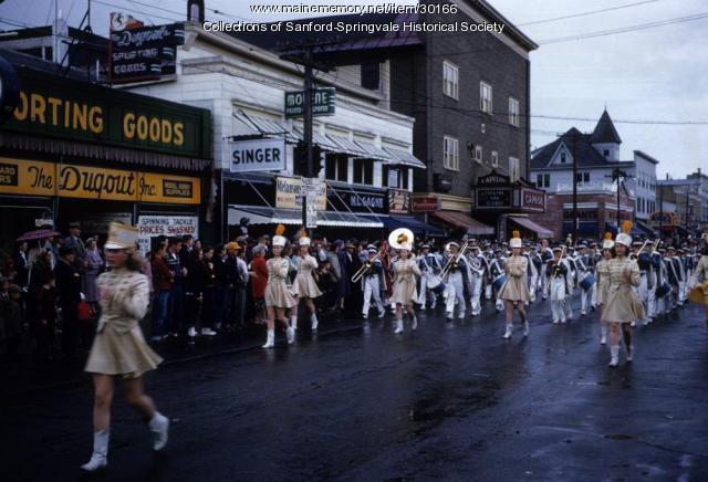 Parade up Main Street, Sanford, ca. 1955