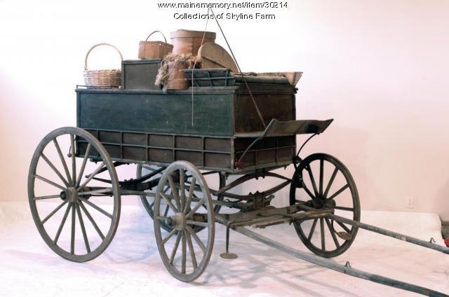 New England Peddlers Wagon, North Yarmouth, 1858