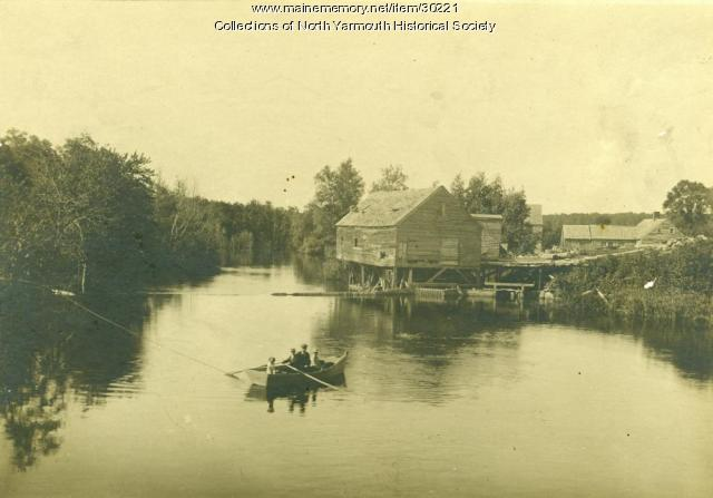 Hayes Mill on the Royal River, North Yarmouth, 1892