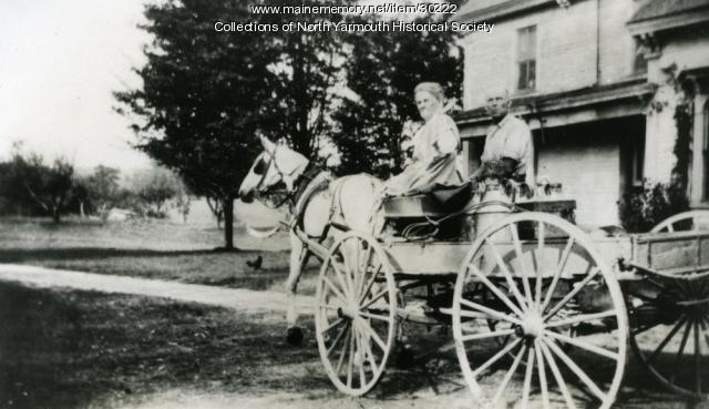 Transporting milk, North Yarmouth, ca. 1915