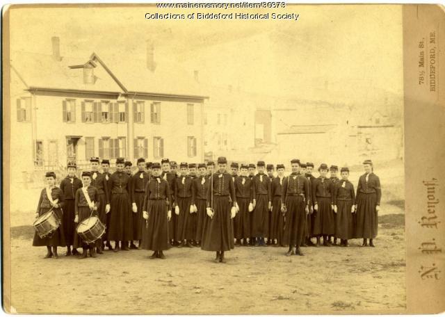 Biddeford High School Cadets, ca. 1890