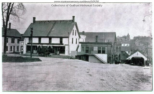 Bank Square and South Main Street, Guilford, ca. 1890