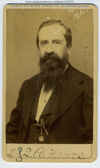 John Quincy Adams Hawes, druggist, Hallowell, ca. 1890