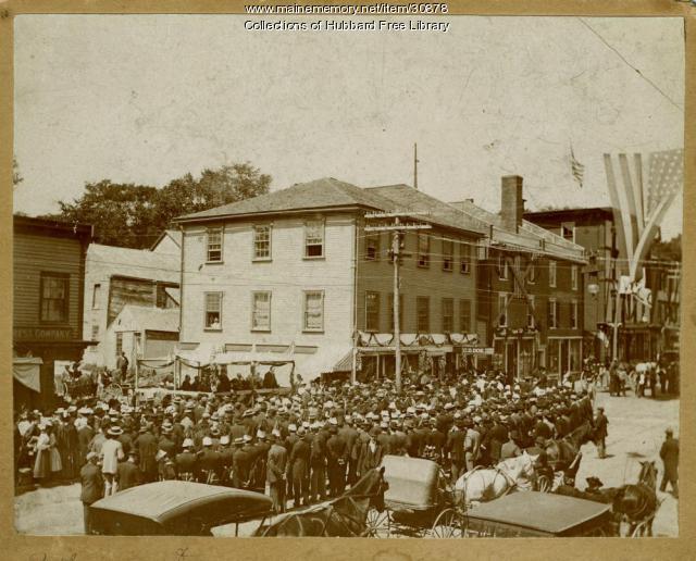 Holiday Gathering, Beemans Corner, Hallowell, ca. 1899
