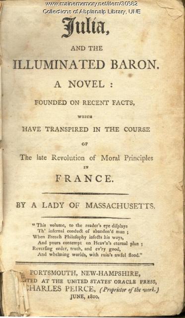 Julia, and the Illuminated Baron, Portsmouth, New Hampshire, 1800
