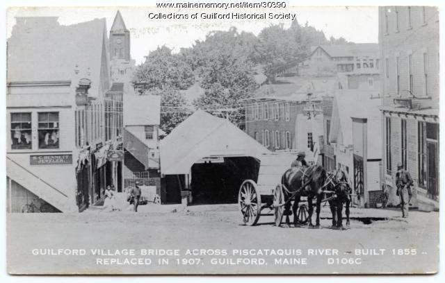 Guilford Covered Bridge, ca. 1900
